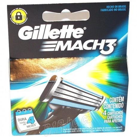 Gillette MACH 3 - 4náhradní hlavice