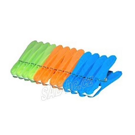 Kolíčky plastové 12ks JUMBO